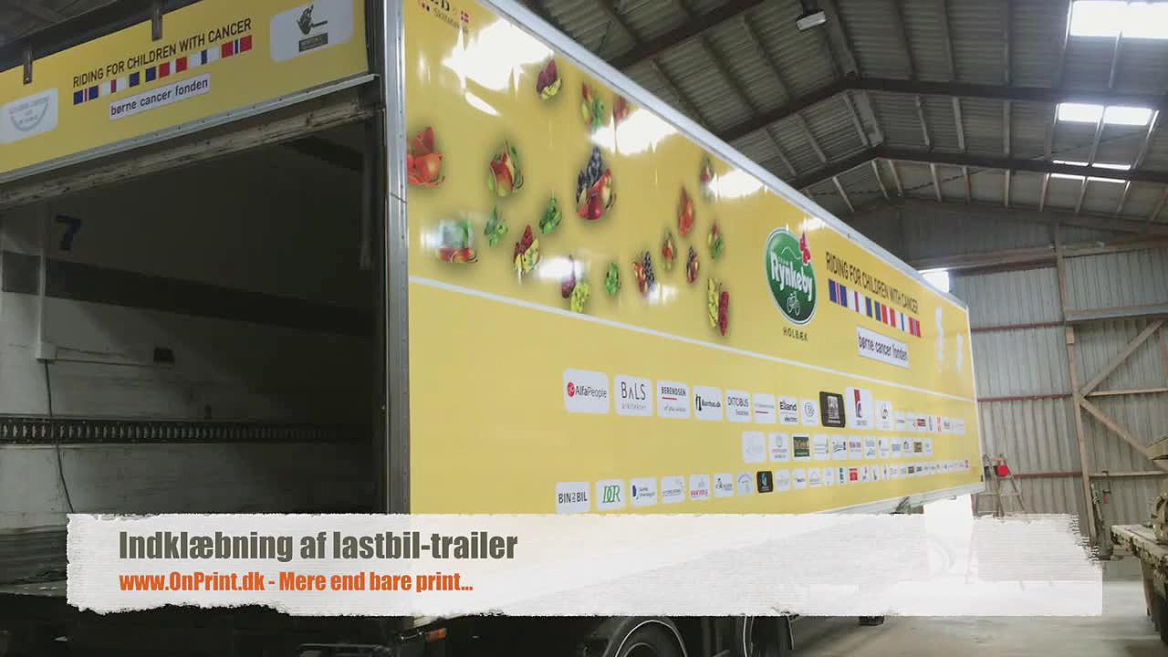 folieindpakning af lastbiltrailer onprint