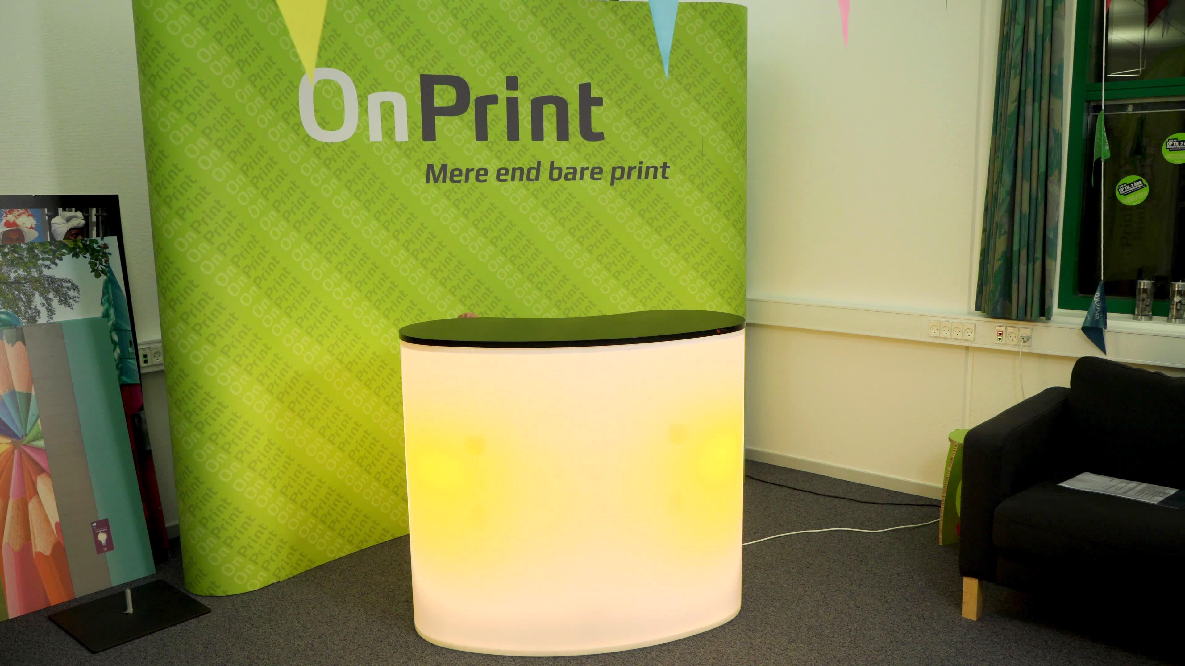 diske med lys onprint