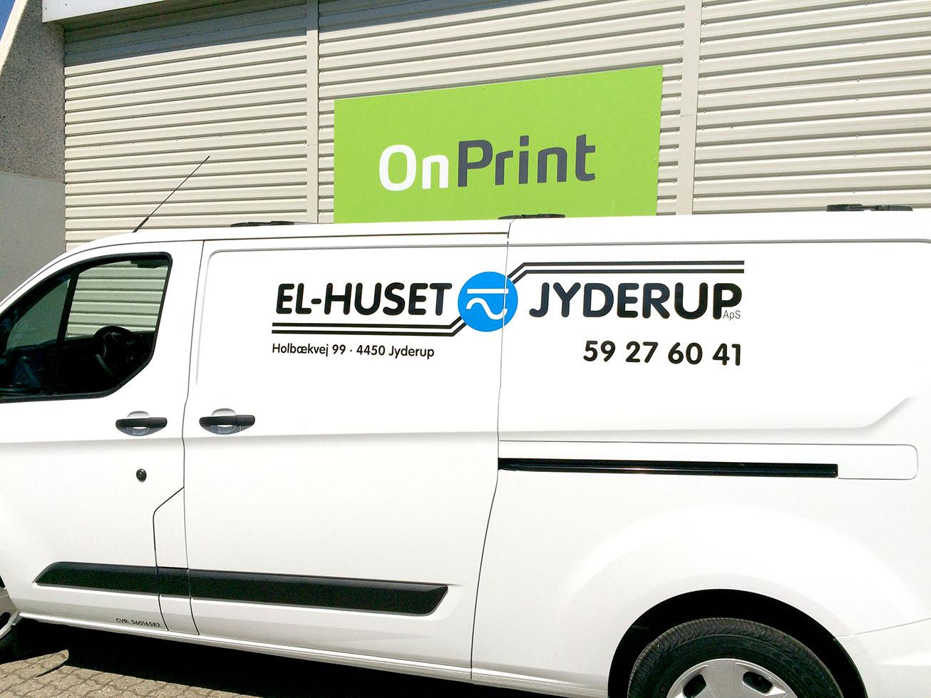 El-Huset Jyderups bil OnPrint folie på bil
